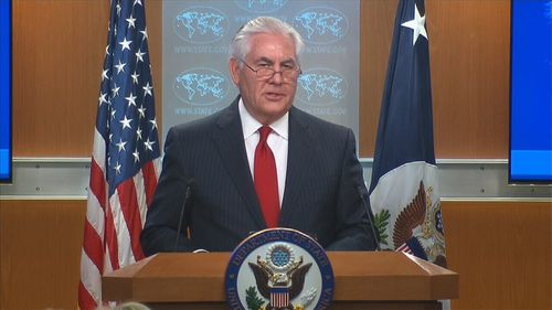 Mr Tillerson addressed the media after his firing had been confirmed. (Supplied)