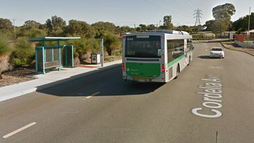The man was attacked at this Cordelia Avenue bus stop.