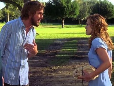 Couple fighting in the movie The Notebook.