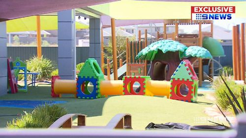 The asbestos was dumped right next to this daycare centre. (9NEWS)