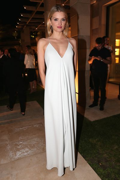 <p>Lily Donaldson in Calvin Klein Collection</p>