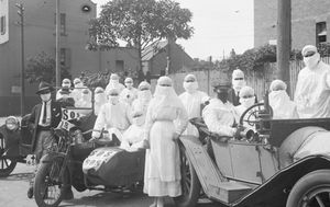 What happened the last time the NSW-Victoria state border closed, during the 1919 Spanish Flu pandemic