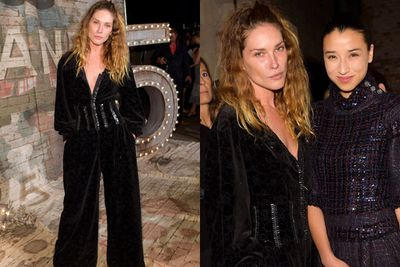 Yep, we're completely unmoved by Erin Wasson's oversized suit. <br/><br/>Minus points for the crushed velvet.