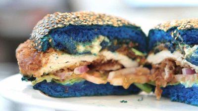 Sydney diner's Mutant Burger conceals colourful surprise