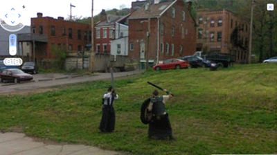 An ancient battle underway in the Us city of Pittsburgh.