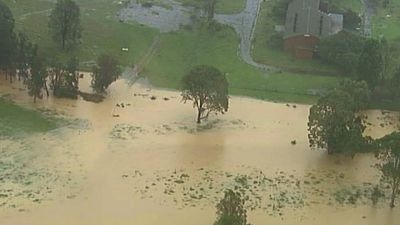 Numerous parks have been flooded as waters continue to surge. (9NEWS)
