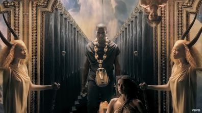 Kanye West featured model Irina Shayk in his 2010 music video Power.