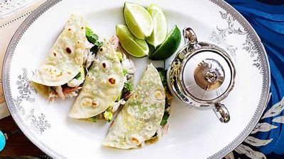 "Recipe:&nbsp;<a href=""http://kitchen.nine.com.au/2016/05/16/17/49/crab-and-avocado-tortillas"" target=""_top"" draggable=""false"">Crab and avocado tortillas</a>"