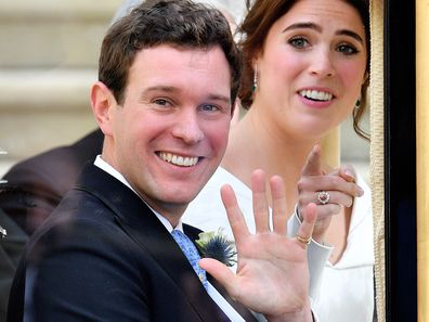 Jack Brooksbank and Princess Eugenie on their wedding day, October 2018