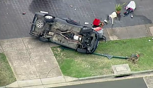 Another witness was narrowly missed by the erratic driver moments before the collision. (9NEWS)