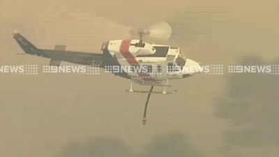 Helicopters were called in to fight the blaze on Tuesday, with the NSW Rural Fire Service sending two aircraft. (9NEWS)