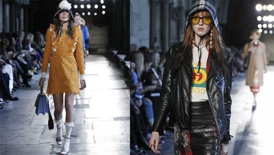 In another chapter of Alessandro Michele's neverending book of 'Things You Never Thought You'd Covet' comes the rain hat. Dismissed through the years as an all too practical piece - and the crowning glory of one Mr. Paddington Bear - the rain hat (or sou'wester) has become a must-have following this week's Gucci Resort collection. Alternatively, look to a '50s screen siren scarf in playful prints and quirky details to brighten up dull days. To be worn strictly in a convertible with sunglasses, of course.