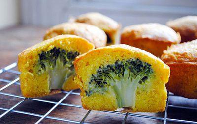 <p><strong>Dessert: Broccoli cupcakes</strong></p>