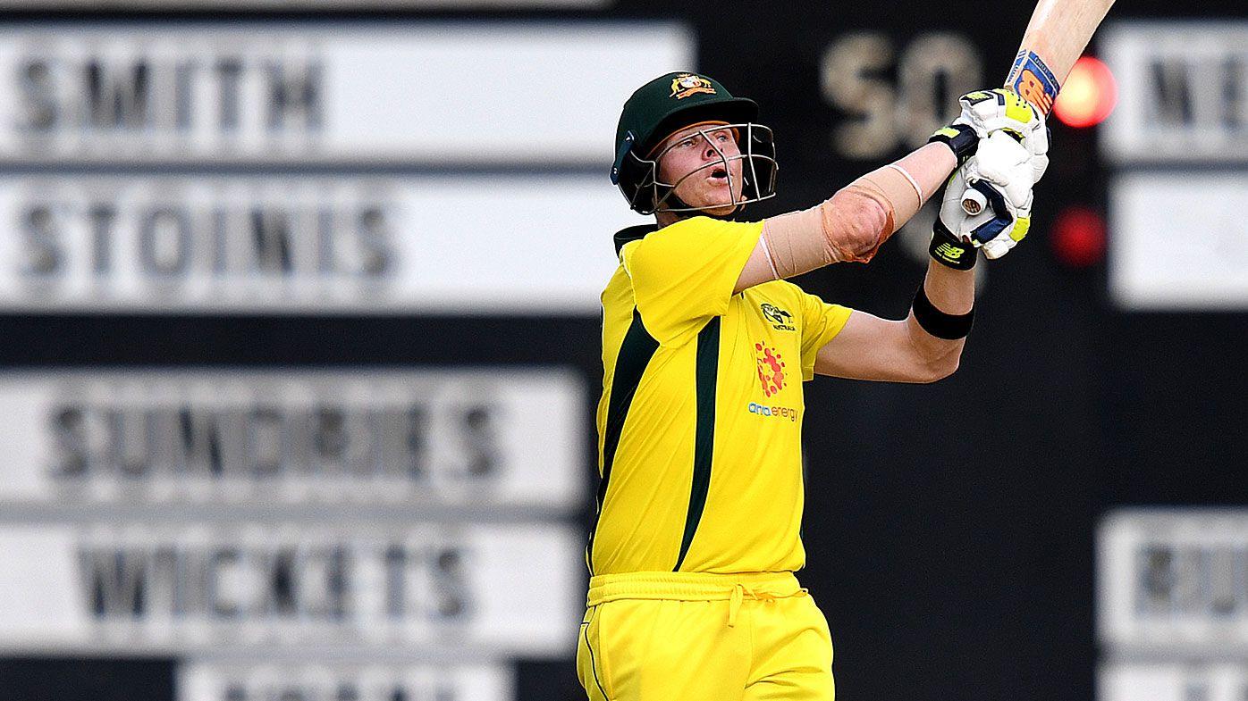 Steve Smith batting against the Kiwis