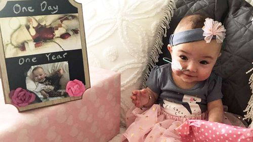 Brisbane girl born at just 25 weeks breathes on her own after 391 days