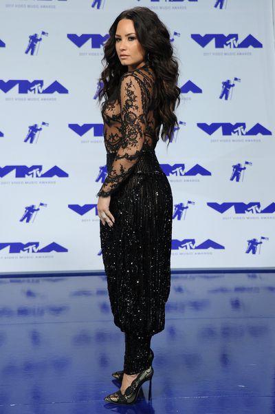 Demi Lovato in Zuhair Muradat the 2017 MTV VMAs in LA, August 27.