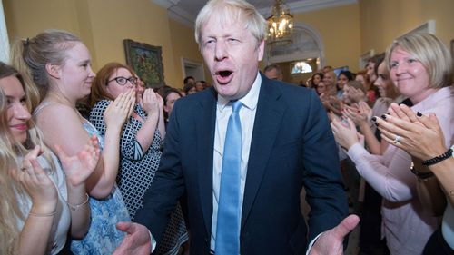 Mr Johnson enters No. 10 for the first time as prime minister.