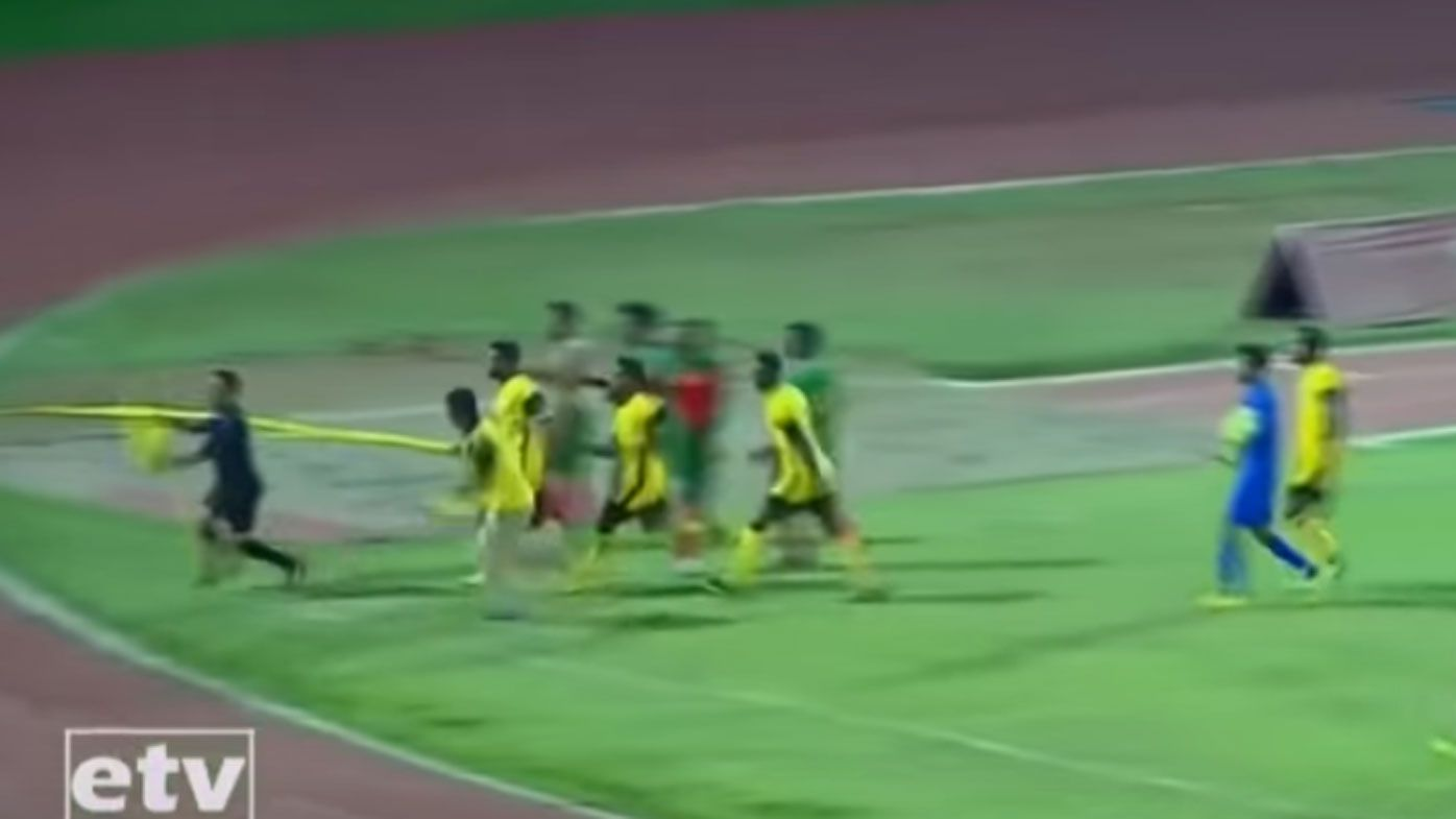 Ethiopian referee attacked by fuming coach and players