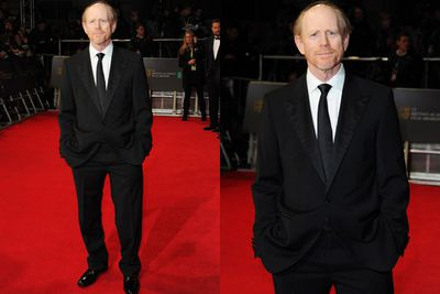 Ron Howard suits up for his appearance on the BAFTAs red carpet.