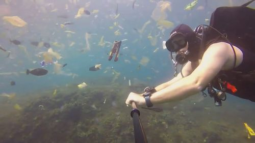 Diver Rich Horner says the pollution at Manta Point is unlike anything he's ever seen before.  (Picture: Rich Horner)