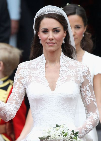 "<p>Chances are that the something borrowed on <a href=""https://honey.nine.com.au/2018/05/19/15/20/royal-wedding-2018-prince-harry-meghan-markle-live-coverage"" target=""_blank"" title=""Royal wedding"">Meghan Markle's wedding</a> to Prince Harry will be a tiara. Along with titles, satin gowns and blue sashes the Royal Family's vaults are stuffed with tiaras for the taking. </p> <p>Here is out pick of the sparkling headpieces to crown her second trip down the aisle.</p> <p><strong><em>The Halo Tiara</em></strong><br /> <br /> The odds are low of Markle wearing the Halo, also known as the Scroll tiara, down the aisle as the 1936 Cartier creation was made famous on the Duchess of Cambridge's wedding day.<br /> <br /> Comprising 739 brilliant-cut diamonds and 149 baguette-cut diamonds, the tiara was a gift from Queen Elizabeth's father King George to the Queen Mother. </p> <p>The late Queen Mother gave the tiara to the current queen, who regularly loaned the treasured piece to her sister Princess Margaret and daughter Princess Anne.<br /> <br /> The tiara is currently part of an exhibition of Cartier jewellery at the National Gallery of Australia in Canberra, so sorry Meghan.</p>"