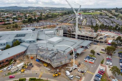 A $135 million upgrade underway at Casey Hospital in Berwick. (9NEWS)