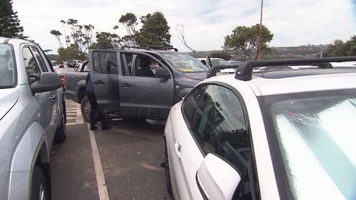 Police tried to stop a stolen Volkswagen Amarok along Dee Why Parade in Dee Why this afternoon when it sped off and crashed.