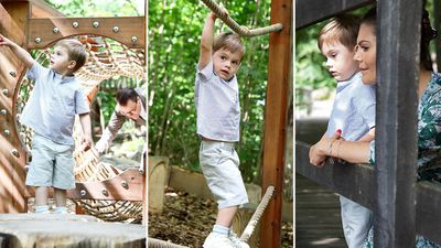 Prince Oscar's playdate with Mum and Dad