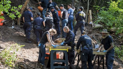Human remains have been discovered in the Toronto ravine behind a home that alleged serial killer Bruce McArthur used as storage for his landscaping business.