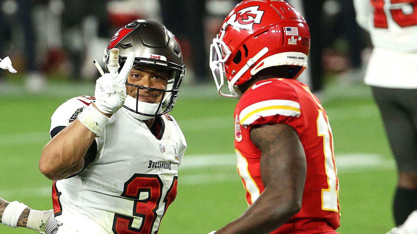 Antione Winfield Jr gets revenge on Tyreek Hill in Super Bowl win