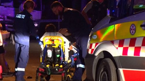 Seven people have been injured – six of them stabbed – during a fight near a bar on Sydney's north shore.