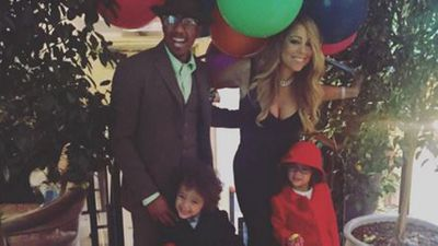 Divorced duo Nick Cannon and Mariah Carey with their twins Moroccan and Monroe