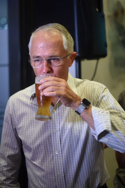 'He clearly had a few too many' Mr Turnbull joked of the incident. (AAP)