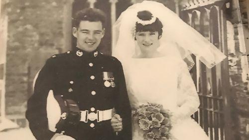 The Slades on their wedding day. (Supplied)