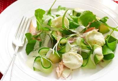 Smoked trout and avocado salad
