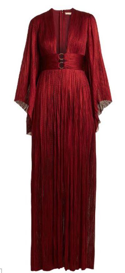 """<a href=""""http://www.matchesfashion.com/au/products/Maria-Lucia-Hohan-Charlize-kimono-sleeve-pleated-tulle-gown-1170759"""" target=""""_blank"""">Maria Lucia Hohan Charlize kimono-sleeve pleated tulle gown, $1569.</a>"""