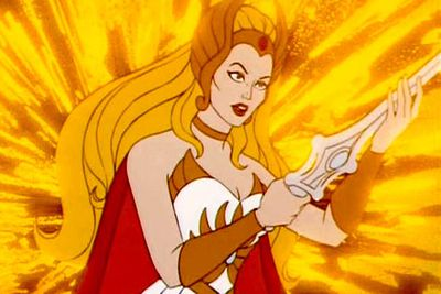 Her brother He-Man has those big dumb muscles and that awful pageboy haircut, but She-Ra — woof! What a babe! Not to mention the most powerful woman in the universe.