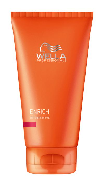 "<p><a href=""http://www.wella.com/professional/en-EN/product/care/enrich-self-warming-treat"" target=""_blank""><em>Wella Enrich Self Warming Treatment</em></a> - The perfect formula for combatting dry winter locks, apply this treatment to damp hair and allow it to develop for the duration of the warming effect. </p>"