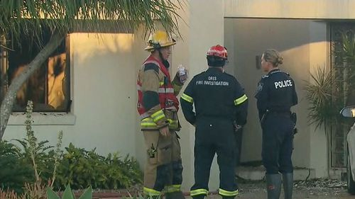 The flames ripped through the property at North Lakes at 5am. Picture: 9NEWS