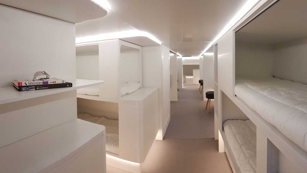 Airbus is turning airplane cargo holds into red-eye dormitories