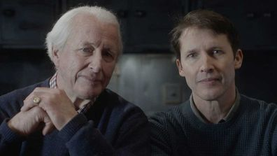 James Blunt and his father Charles.