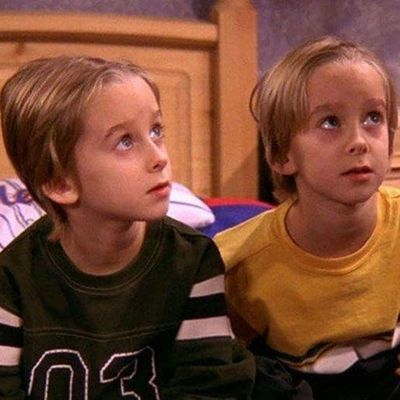 Sawyer and Sullivan Sweeten as Geoffrey and Michael Barone: Then