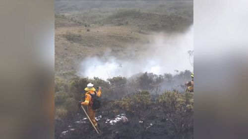 Fire crews in Tasmania are not resting easy either, with fears hot and dry weather conditions could whip up bushfires across the island.