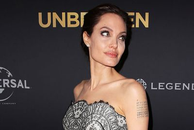 There are no visible signs of nerves as Angelina gets ready to unveil her latest movie.
