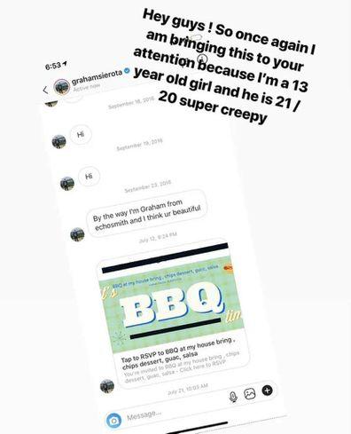 Alabama Barker, messages, Instagram