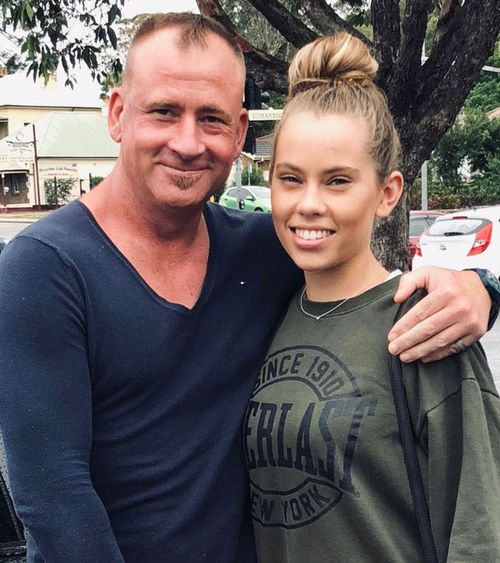 Mr Phillips with one of his daughters.