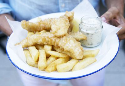 Monday: Beer-battered fish and chips