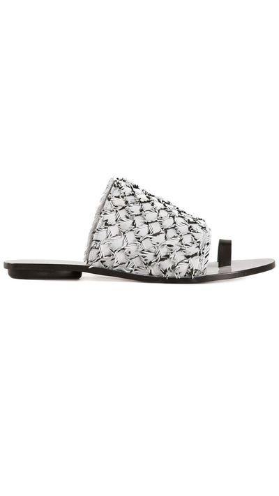 """<a href=""""http://www.farfetch.com/au/shopping/women/Proenza-Schouler-woven-flat-sandals-item-10922626.aspx"""" target=""""_blank"""">Slides, $651.77, Proenza Schouler</a>"""