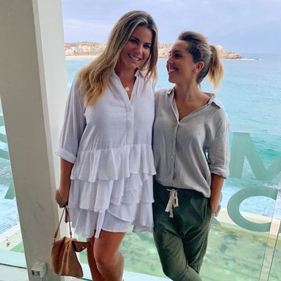 Fiona Falkiner and Hayley Willis