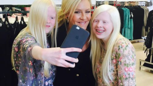The girls enjoyed dress-ups in Myer with 9NEWS' Jo Hall. (Instagram via lucy_and_sammy)